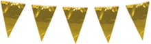Vlaggen slinger met grote vlaggen (30-45 cm) goud