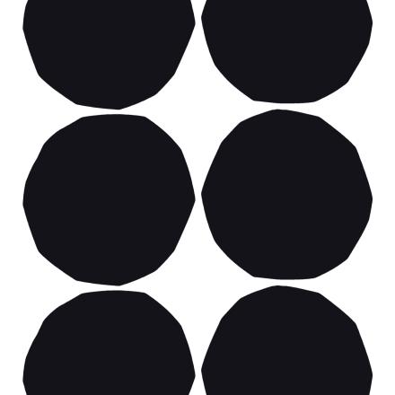 Isot Kivet kangas musta-valkoinen
