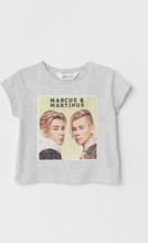 H & M - T-shirt med motiv - Grå