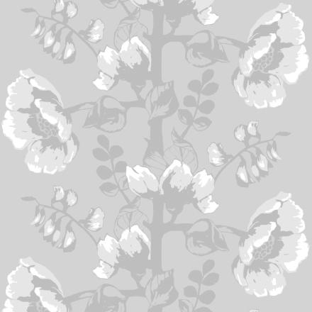 Silkkisuukko-tapetti harmaa