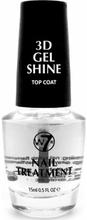 W7 3D Gel Shine Top Coat 15 ml