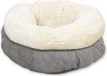 afp hunde/katteseng lammeuld donut grå