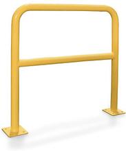 Schutzbügel mit Knieholm aus Stahl 1000 x 2000 mm gelb, 60 mm Rohr