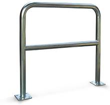 Schutzbügel mit Knieholm aus Stahl 1000 x 1000 mm galvanisiert, 40 mm Rohr