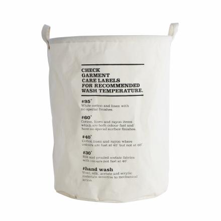 House Doctor pyykkikori wash instructions musta-valkoinen