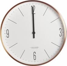 Clock Couture seinäkello kulta-valkoinen