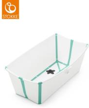 Stokke Flexi Bath Bundle med Värmekänslig Propp (White Aqua)