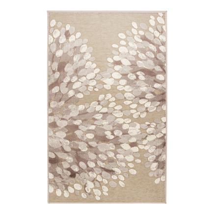 Sydänpuu matto harmaa-valkoinen 68 x 220 cm