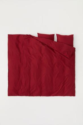 H & M - Puuvillainen pussilakanasetti - Punainen