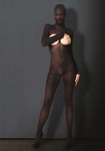 Leg Avenue - Kink öppen genomskinlig catsuit med mask