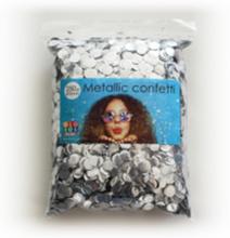 Confetti metallic rond 10mm - 250 gram - zilver