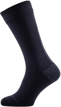 Sealskinz Road Thin Mid Socks with Hydrostop - Black/Yellow - XL - XL - Black/Grey
