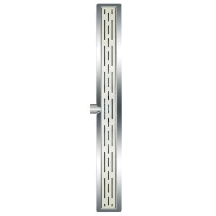L'Aqua klassisk lineært bruseafløb 90 cm rustfrit stål