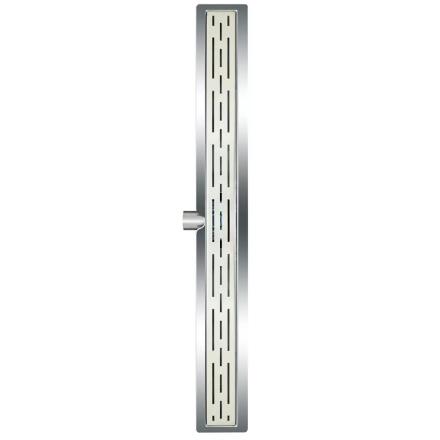 L'Aqua klassisk lineært bruseafløb 80 cm rustfrit stål