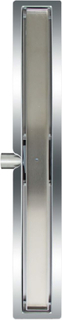 L'Aqua lineært bruseafløb flise 80 cm rustfrit stål