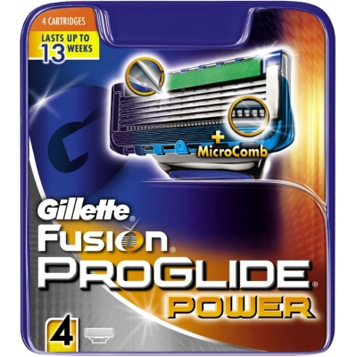 Gillette Fusion Proglide Power Partaterät 4 kpl