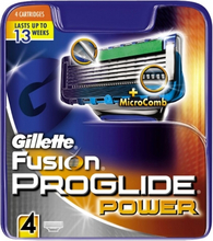 Gillette Fusion Proglide Power Barberblade 4 stk