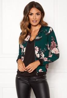 Happy Holly Hanna jacket Dark green / Patterned 52/54