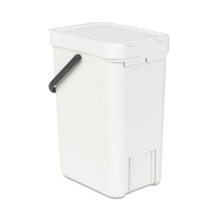 Sort & Go roskakori 12 litraa valkoinen