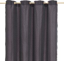 OYOY - Herringbone Badeforhæng 180x200cm, Sort/ Sand