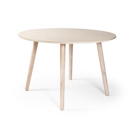 Department - Ray Spisebord Ø 110 cm, Hvitpigmentert Eik