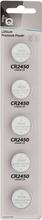 Litium Knappcellsbatteri CR2450 3V 5-P