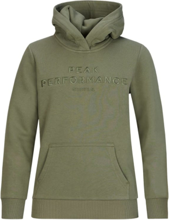 Peak Performance Junior Original Hoodie Barn Tröja Grön 140