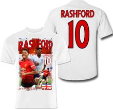 Rashford man. utd spelare t-shirt - polyester sports tröja 10