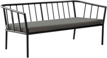 MENTON soffa 2-sits Svart