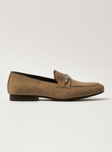 Tan Faux Suede Ape Loafers