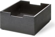 Cutter säilytyslaatikko mustaksi maalattu tammi