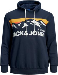 JACK & JONES - Plus Size Treningsgenser Plus Size Hettegenser Men Blue