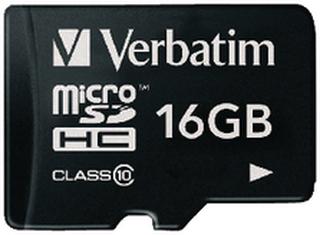 Verbatim microSDHC Minneskort Class 10 16 GB