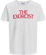 JACK & JONES Exorcisten-prydd T-shirt Man White
