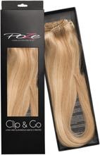 Poze Standard Äkta Löshår Clip & Go - 125g Glam Blonde 10B/11N - 60cm