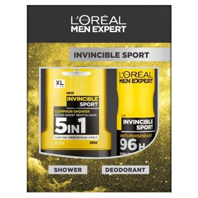 L'Oreal Men Expert Invincible Sport Shower Gel & Deospray 300 ml + 150 ml
