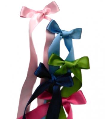 Dopband till klänning brodyr/eko bomull (Färg på band: Ljusblått)