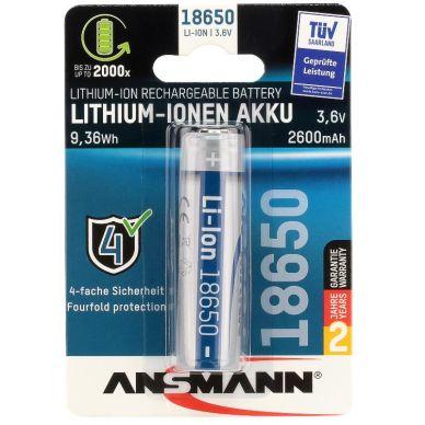 Ansmann Ansmann 18650 3.6V 2600mAh (9.36Wh) 4013674092437 Replace: N/AAnsmann Ansmann 18650 3.6V 2600mAh (9.36Wh)