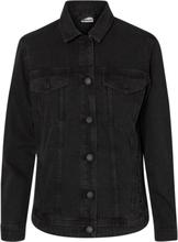 NOISY MAY Long Denim Jacket Women Black