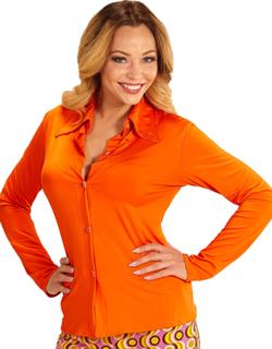 70 Talls Orange Kostymeskjorte til Dame