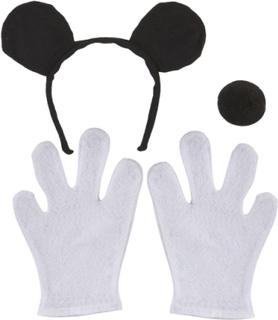 Mus Kostymesett til Barn med Ører, Nese og Hansker