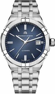 Maurice Lacroix Aikon automatisk rustfritt stål blå ring AI6008-SS0...