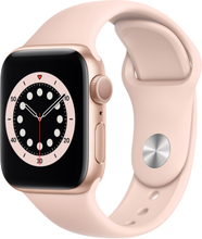 Apple Watch Series 6 (6. Gen 2020) GPS 40mm Rose Gold Sportsrem Rosa
