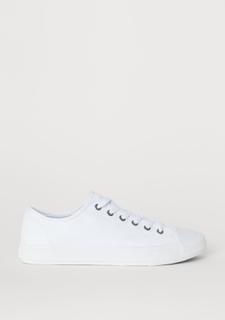 H & M - Sko i canvas - Hvit