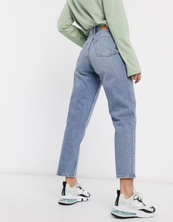 Monki Taiki organic cotton high waist mom jeans in light blue