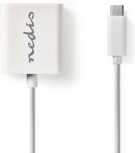 Nedis Adapter USB-C hann - VGA hunn Hvit