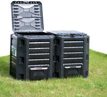 vidaXL kompostbeholder 380 l sort