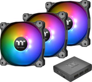 Thermaltake Pure Plus RGB 12 TT Premium Edition 3 Pack PC-kabinet-blæser Sort, RGB (B x H x T) 120 x 120 x 25 mm