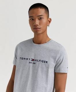 Tommy Hilfiger T-Shirt Tommy Logo Tee Grå