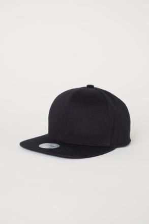 H & M - Puuvillasekoitteinen lippis - Musta
